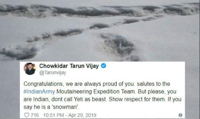 Yeti Footprints Spotted by Indian Army, BJP Leader Tarun