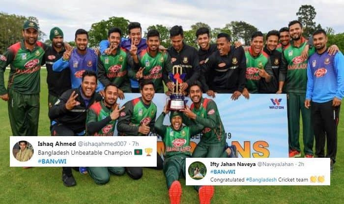Bangladesh Beat West Indies to Clinch Maiden Multi-Nation ODI Trophy, Twitter Lavishes Praise | SEE POSTS