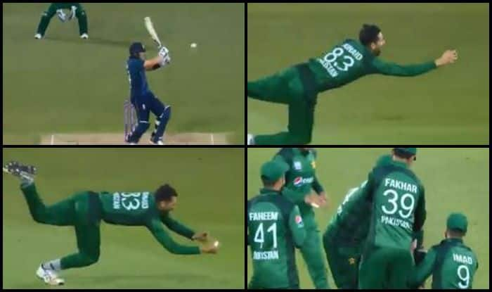 ENG v PAK: Junaid Khan Takes a Stunning One-Handed Catch to Dismiss Joe Denly During 4th ODI Between England And Pakistan | WATCH VIDEO