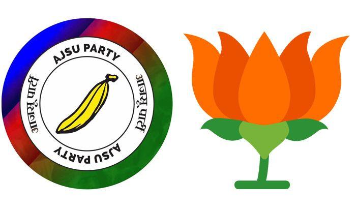 AJSU Party and BJP symbols