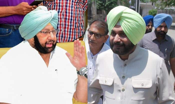 Amarinder Singh and Navjot Singh Sidhu. Photo Courtesy: IANS