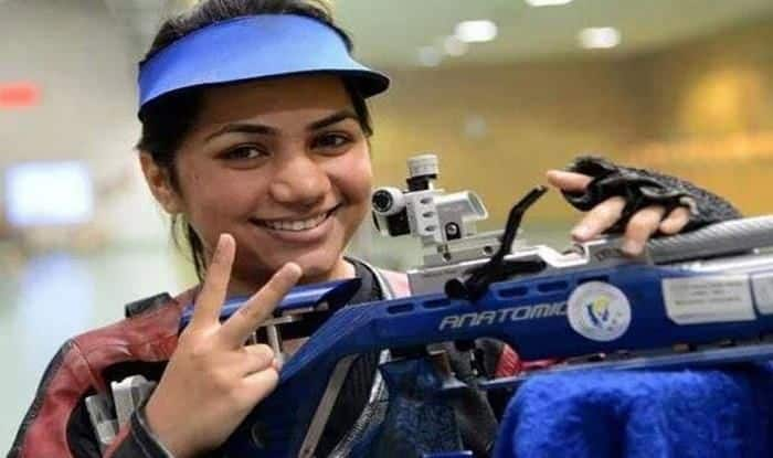 Apurvi Chandela 10m air rfle gold_Picture credits-Twitter