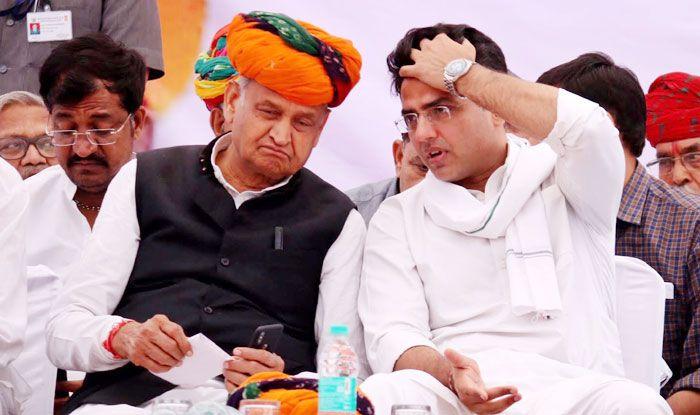 Congress leaders Ashok Gehlot and Sachin Pilot. Photo Courtesy: IANS