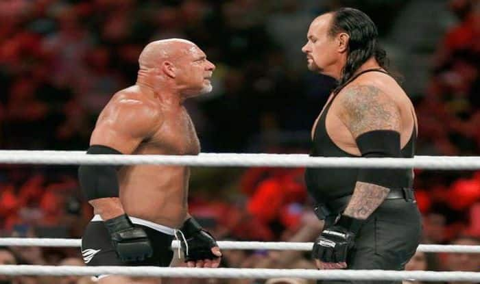 Goldberg vs Undertaker Super Showdown_Picture credits-Twitter