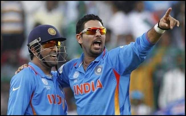Indian Cricket Team's Dhoni and Yuvraj_Picture credits-Twitter