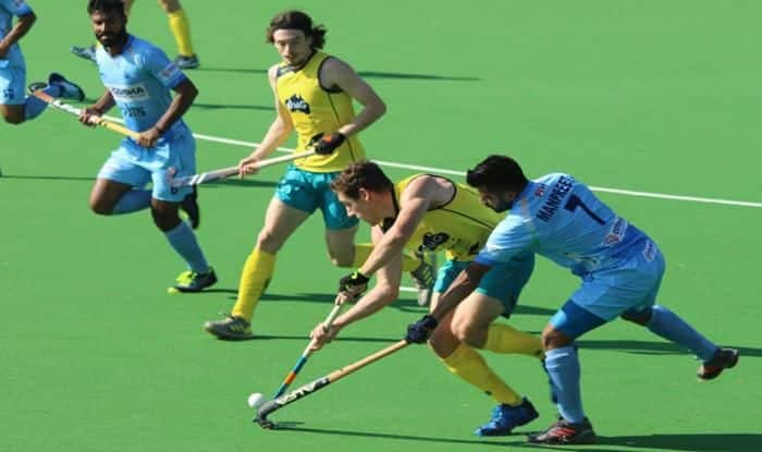 Indian Hockey Team against Australia A _Picture Credits-Hockey India Twitter