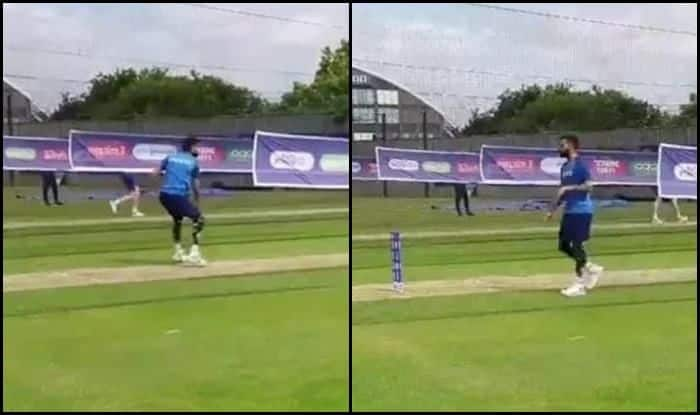 Indian cricket captain Virat Kohli working on his bowling skills at India's training camp_Picture - BCCI Video Screenshot