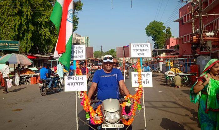 Voter in Madhya Pradesh. Photo Courtesy: IANS