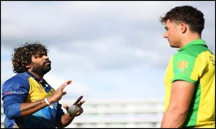 Marcus Stoinis gets bowling lessons from lasith Malinga_Picture-Twitter