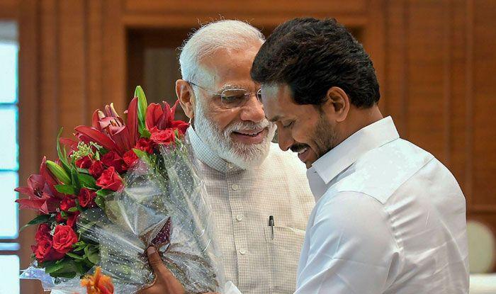 Narendra Modi with Jaganmohan Reddy. Photo Courtesy: PTI