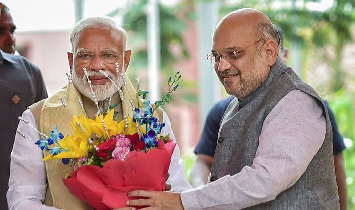 PM Narendra Modi and Amit Shah. Photo Courtesy: PTI
