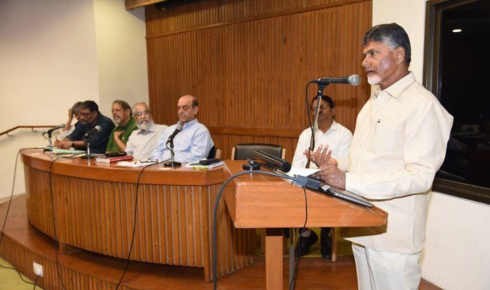 Andhra Pradesh CM Chandrababu Naidu in New Delhi. Photo Courtesy: IANS