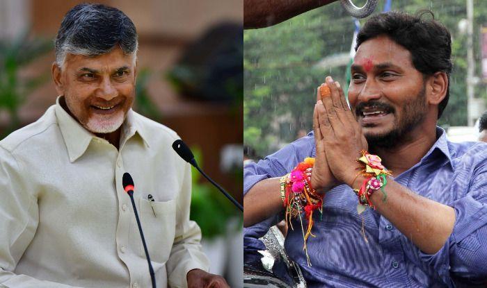 Chandrababu Naidu and Jaganmohan Reddy. Photo Courtesy: IANS