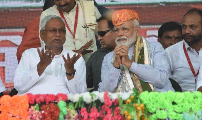 Nitish Kumar and Narendra Modi. Photo Courtesy: IANS