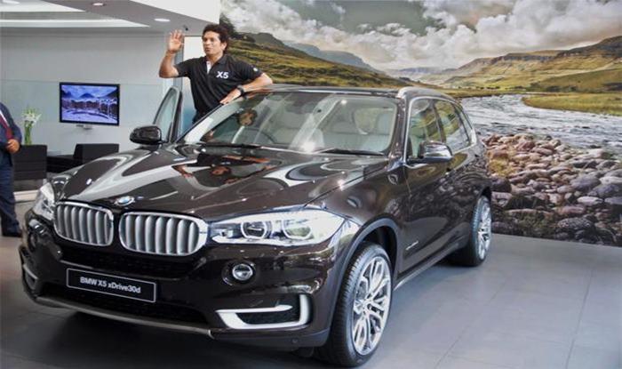 Sachin Tendulkar, New BMW X5, BMW, Sachin Tendulkar BMW, BMW SUV, Sachin Tendulkar launches BMW new X5 SUV in India