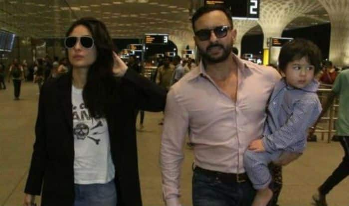 Saif Ali Khan Kareena Kapoor Khan and Taimur Ali Khan head off to London