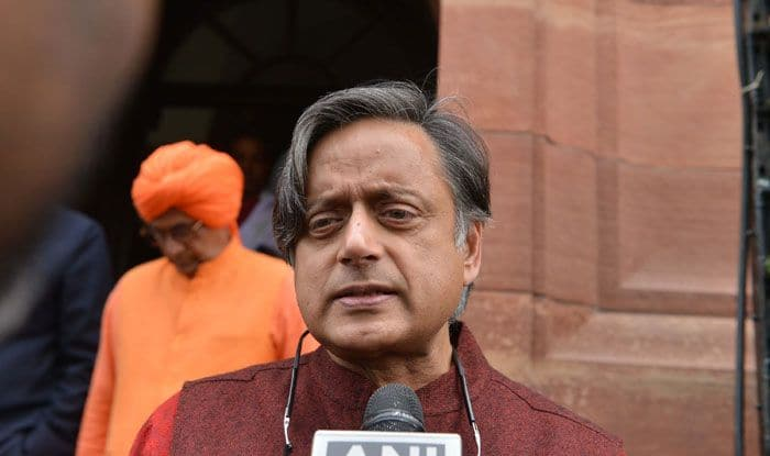 Congress leader Shashi Tharoor. Photo Courtesy: IANS
