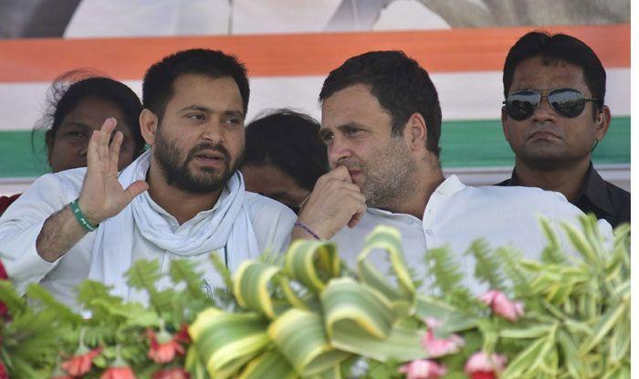 Tejashwi Yadav with Rahul Gandhi