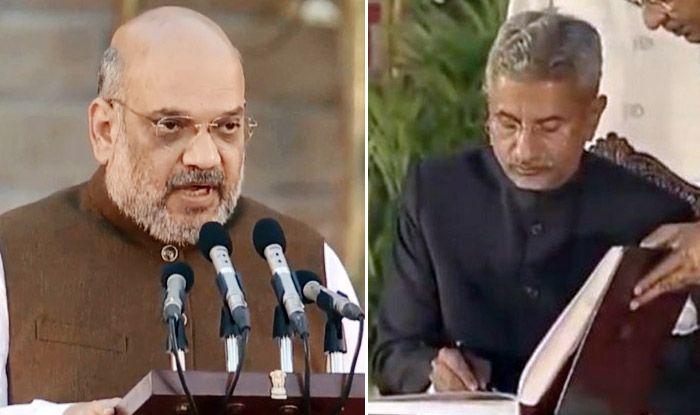 Amit Shah and S Jaishankar at swearing-in ceremony