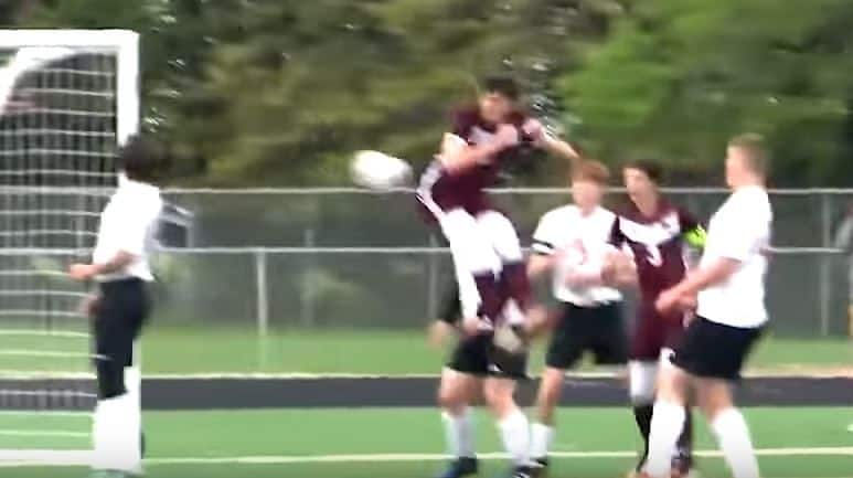 High School Footballer Scores Wonder Backside Goal | WATCH VIDEO