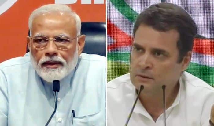 PM Modi Addresses First Press Conference; Rahul Holds Simultaneous Briefing, Mocks Him