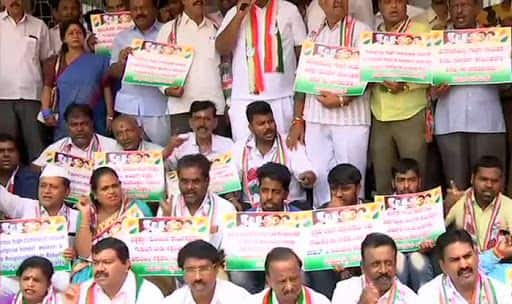 'Please Stay,' Congress Workers Urge Rahul Gandhi to Not Quit, Protest at Bengaluru Office