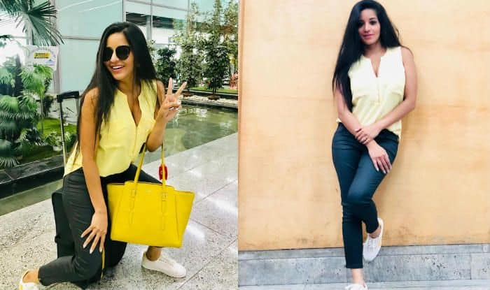 Bhojpuri Star Monalisa Spreads Sunshine in a Yellow Top as She Expresses 'Saturday Mood' by 'Feeling Myself'