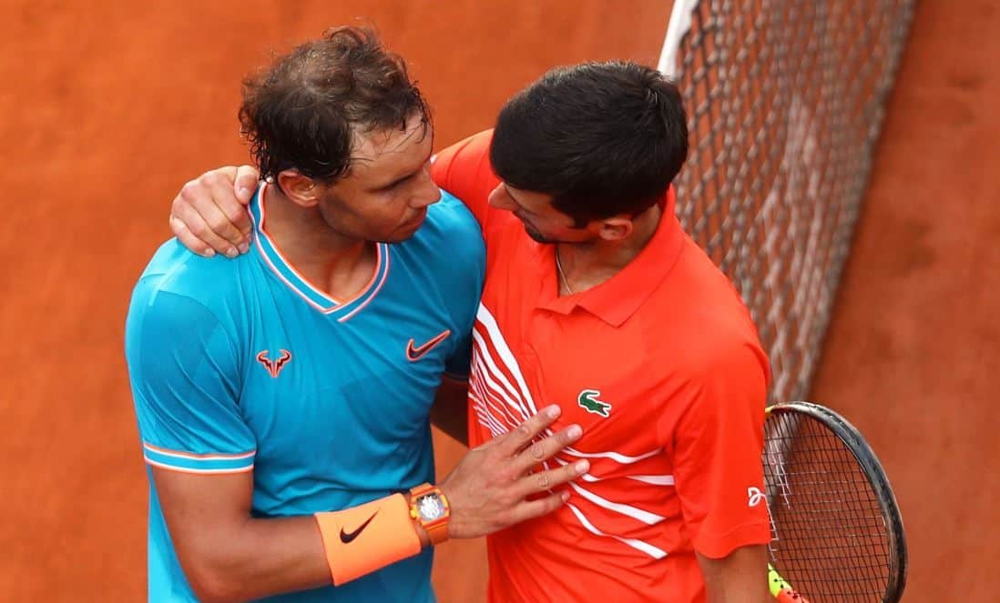 The players after their Italian Open final. Image Source: ATP.