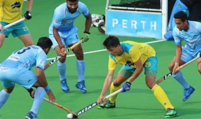 Indian men's hockey team during match