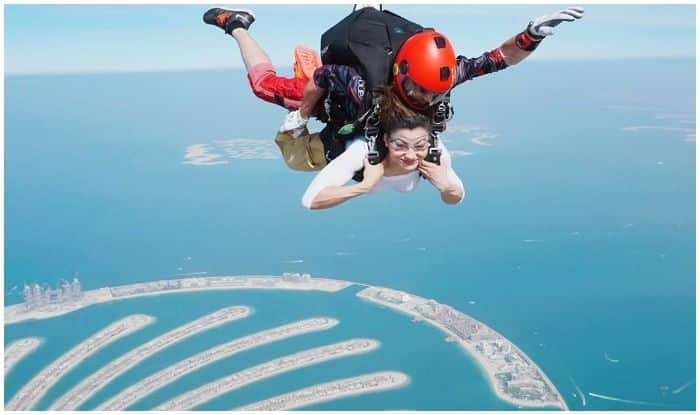 Urvashi Rautela's 'Fun Jump' Into Dubai's Air With THIS Best Friend Makes Fans Hearts 'Freefall' With Jealousy