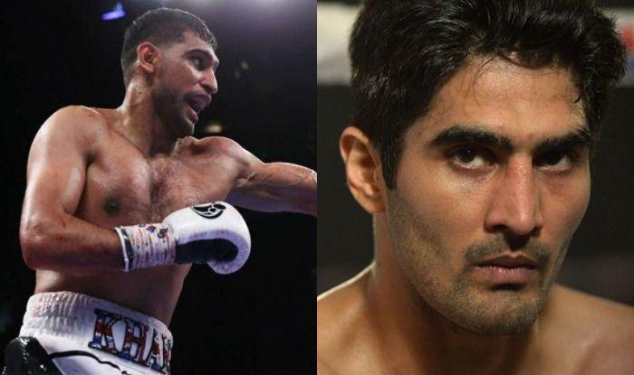 British boxer Amir Khan and Vijender Singh