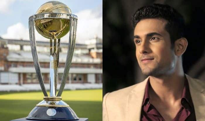 ICC Cricket World Cup Trophy and Sanam Puri