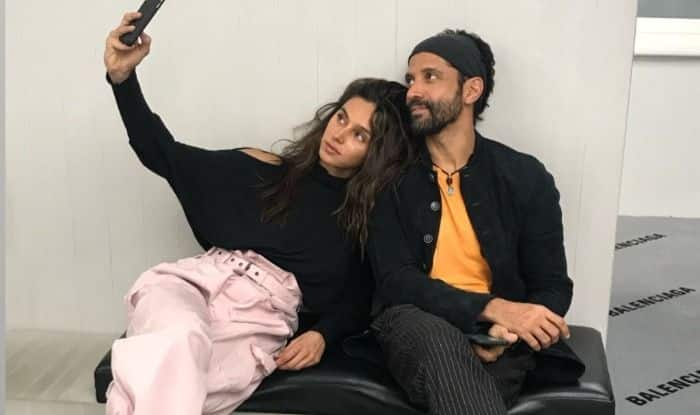 Farhan Akhtar and Shibani Dandekar in London