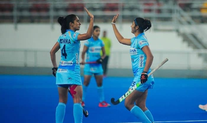 India Womens Hockey Team defeat Republic of Korea 2-1 in the opening match of the tour.