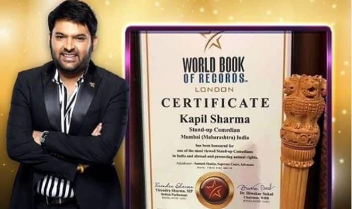 Kapil Sharma gets honoured by the World Book of Records