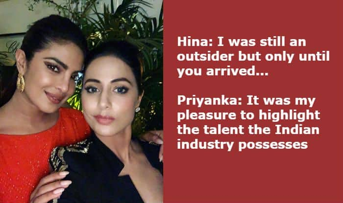 Priyanka Chopra's Comment on Hina Khan's Post Proves Humility is Important Wherever You go in Life
