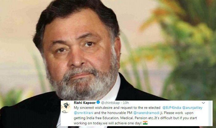 Rishi Kapoor Urges PM Narendra Modi And Smriti Irani to Work For 'Free Education, Medicine'