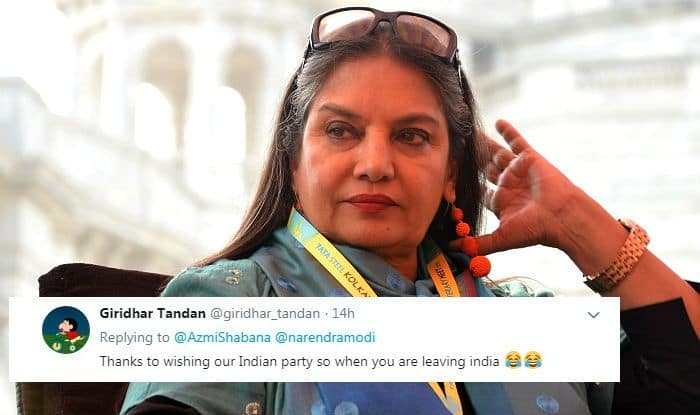 'Go to Pakistan'! Shabana Azmi Trolled Mercilessly For Her Congratulatory Tweet to Narendra Modi