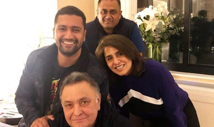Vicky Kaushal Visits Rishi Kapoor And Neetu Kapoor in New York Ahead of His Birthday