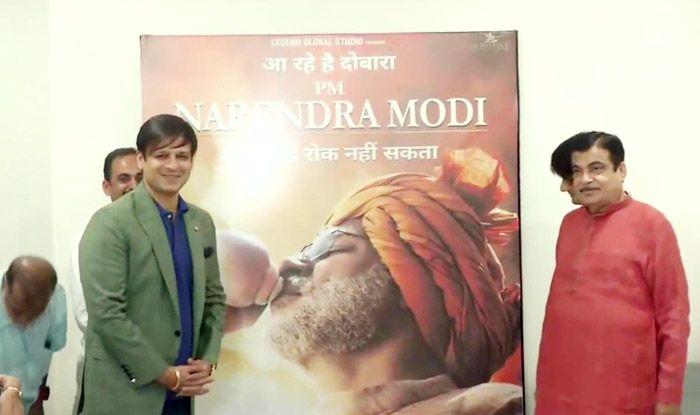 Nitin Gadkari, Vivek Oberoi Launch PM Narendra Modi Biopic Poster