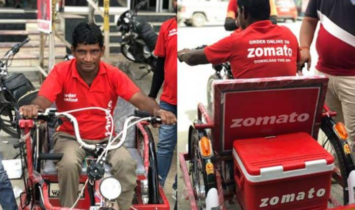 Zomato's Differently-Abled Delivery Boy Who Went Viral, Gets a Gift From The Company- an Electric Vehicle