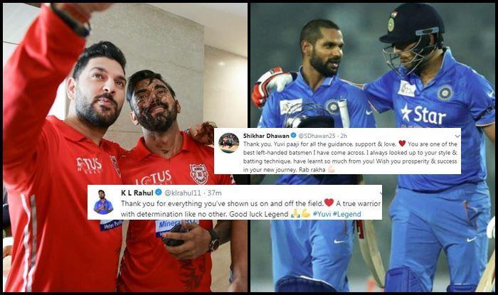 Yuvraj Singh, KL Rahul, Shikhar Dhawan, Virat Kohli, Yuvraj Singh retires, Yuvraj singh retirement, yuvi retirement, yuvraj singh retirement from international cricket, cancer, cancer treatment, cancer survivor, twitter, fans react, twitter react, ICC Cricket World Cup 2019, ICC World Cup 2019, Cricket Fans