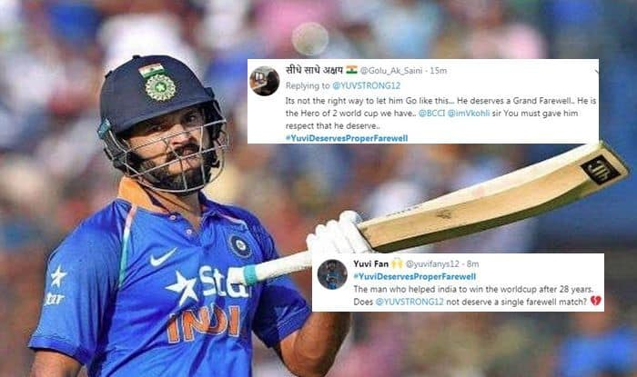 Yuvraj Singh, Yuvraj Deserves Proper farewell, Yuvraj Singh retires, Yuvraj singh retirement, yuvi retirement, yuvraj singh retirement from international cricket, cancer, cancer treatment, cancer survivor, twitter, fans react, twitter react, Cricket Fans