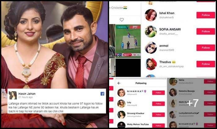Hasin Jahan, Hasin Jahan accuses Mohammad Shami, Hasin Jahan controversy, Mohammad Shami, Mohammad Shami controversy, Tik Tok, India vs West Indies, Ind vs WI, Indian Cricket Team, Cricket News, ICC Cricket World Cup 2019, ICC World Cup 2019, Old Trafford, Manchester