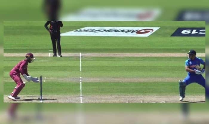 India vs West Indies, Old Trafford, MS Dhoni, MS Dhoni stumping missed, Shai Hope misses stumping, ICC Cricket World Cup 2019, ICC World Cup 2019, Cricket News, Ind vs WI, Team India, Indian Cricket Team