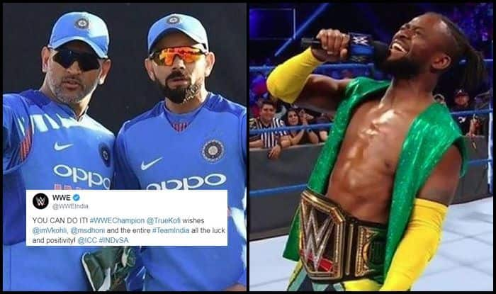 MS Dhoni, Virat Kohli, Team India, WWE, Kofi Kingston, Indian Cricket Team, ICC Cricket World Cup 2019, ICC World Cup 2019, Cricket News, Aus vs Ind, Aus vs Ind