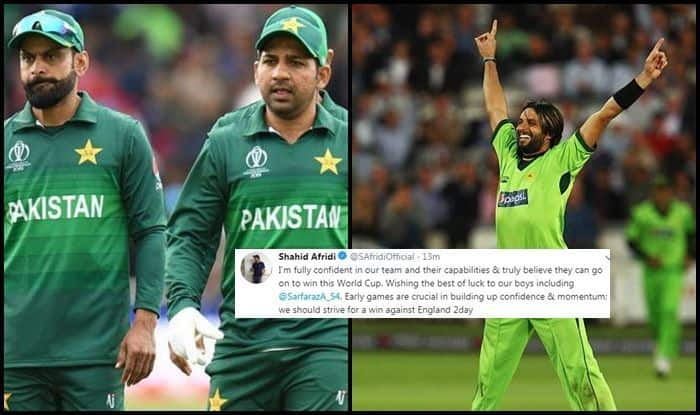 Eng vs Pak, Shahid Afridi, Shahid Afridi Motivational Message, Sarfaraz Ahmed, Pakistan vs England, ICC World Cup 2019, ICC Cricket World Cup 2019, Pak vs Eng, Cricket News