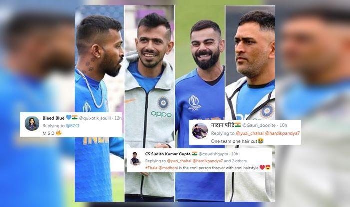 Virat Kohli, MS Dhoni, MS Dhoni new haircut, MS Dhoni new hairstyle, Hardik Pandya, Yuzvendra Chahal, Indian Cricket Team, Team India, ICC Cricket World Cup 2019, ICC World Cup 2019, Cricket News, Hairstyles, Haircut