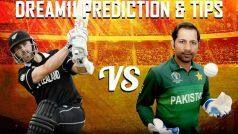 New Zealand vs Pakistan Dream11 Team Prediction And Tips
