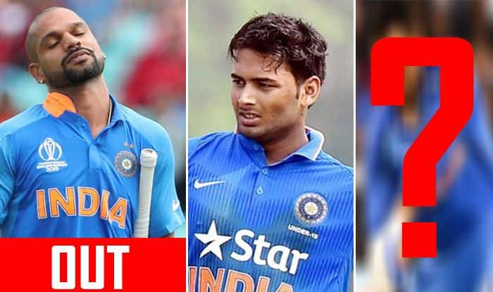 Shikhar Dhawan, Rishabh Pant, Shreyas Iyer, Shubman Gill, Shikhar Dhawan injury, Shikhar Dhawan ruled out of World Cup 2019, ICC World Cup 2019, Indian Cricket Team, Ind vs NZ, Team India, Cricket News